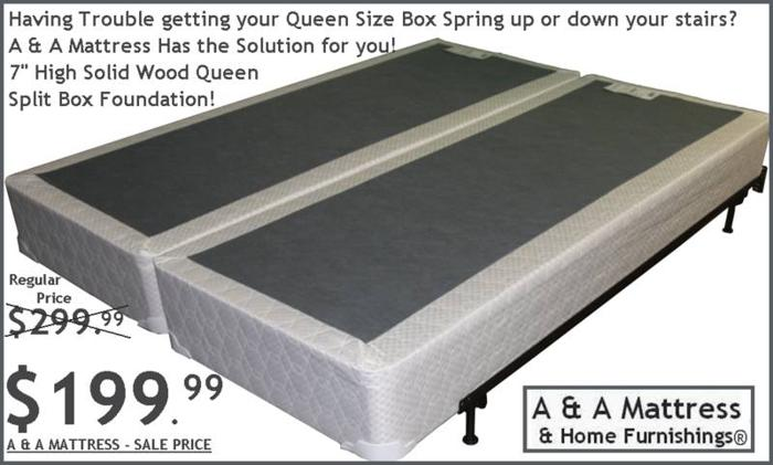 SPLIT QUEEN Amp KING BOX FOUNDATIONS AampA MATTRESS White Or