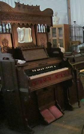 1800s Reed Organ With Foot Pump Antique For Sale In