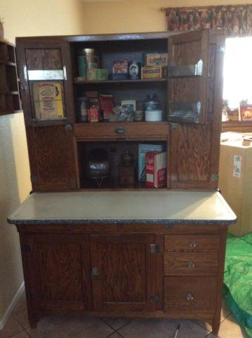 1920s Sellers Hoosier Oak Cabinet For Sale In Murrieta