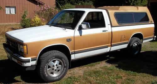 1984 Chevy S10 Durango 4x4 2 8 V6 Auto Long Box Canopy