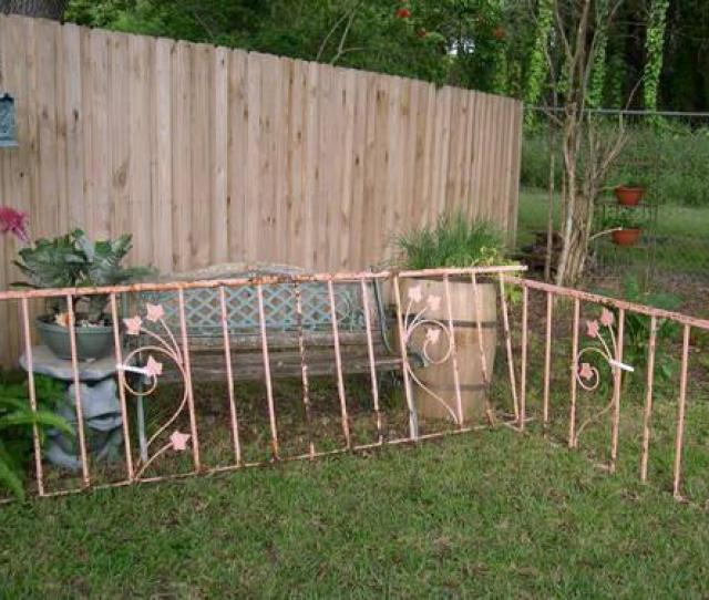 Pink Vintage Wrought Iron Fencing Great Garden Art For Sale In Clearwater Florida