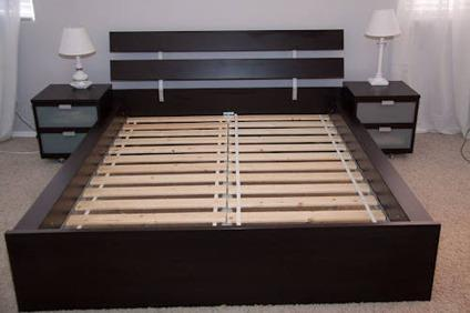 New In Box IKEA Queen Size HOPEN Bed Frame For Sale For