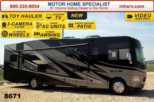 2015 Thor Motor Coach Outlaw 37LS Patio 26K Chassis Pwr