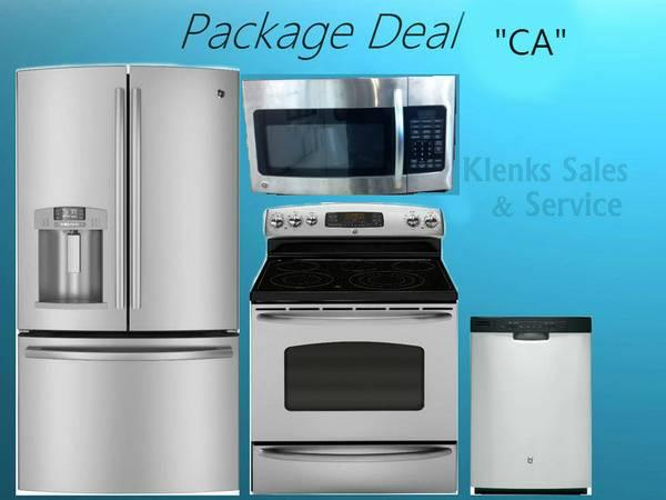 4 Piece GE Stainless Steel Kitchen Appliance Package Deal CA For Sale In Barrington Woods