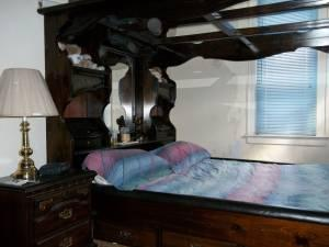 California King Bed With Mirror Canopy Dresser Amp Hutch