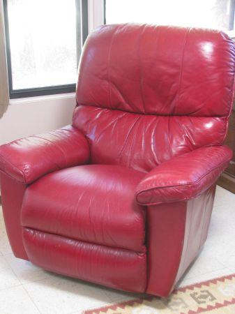 Gorgeous Red Leather Lazyboy Recliner Fort Sumner For Sale In Clovis New Mexico Classified