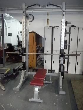 Hammer Strength Half Power Rack W Adjustable Bench Hdhr8