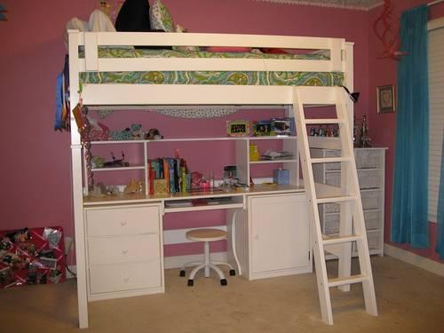 Loft Bed With Desk Underneath Similar To Pottery Barn For