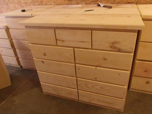 new unfinished solid pine dressers 9 or
