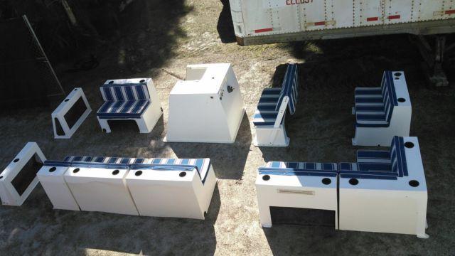 Pontoon Boat Fiberglass Furniture Seating Cushions Set Of