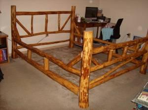 Queen Peeled Log Bed Frame WHFL For Sale In Lakeland