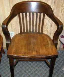 VINTAGE WOOD STENO OFFICE DEN LIBRARY CHAIR WARMS