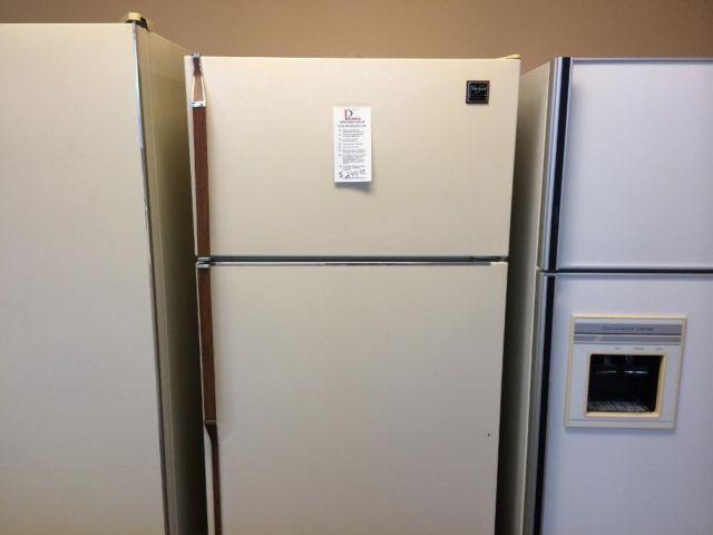 Whirlpool Bisque Refrigerator Freezer USED For Sale In