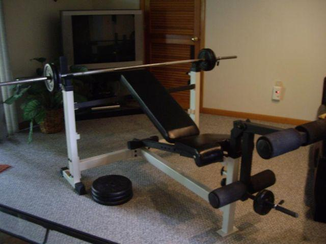 York Weight Bench With Leg Developer Weider Barrell
