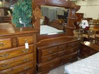 1940s Drexel Mahogany Dresser With Mirror Upper St