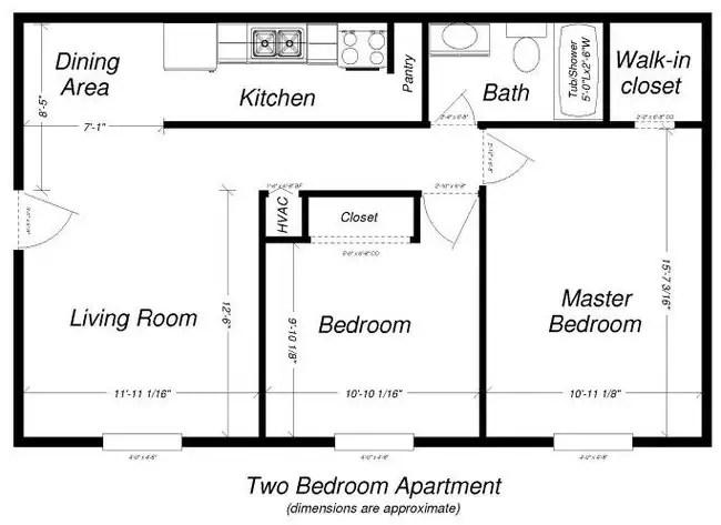 2br 1ba Lyn Gardens Apartments
