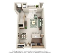 1 Bedroom Loft J