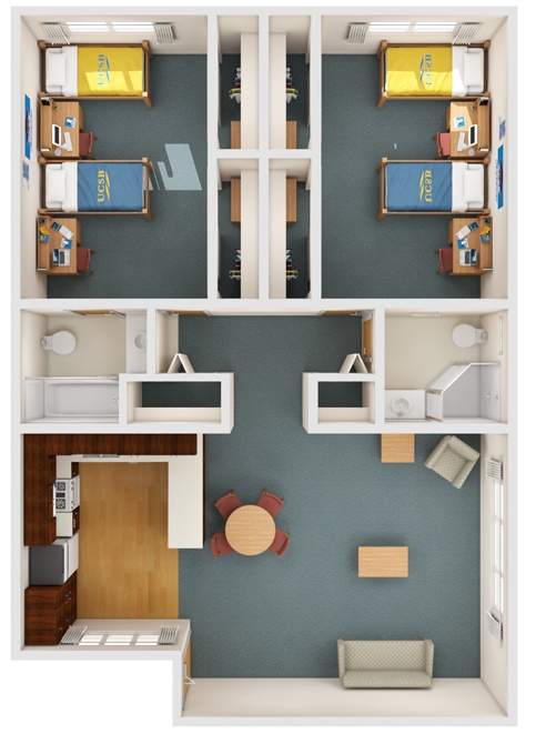 2br 2ba El Dorado Apartments
