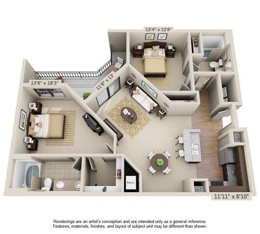 2 bedroom bath townhouse orlando fl for Floor plans for 160 000