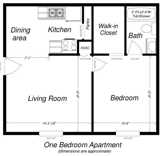 1br 1ba Lyn Gardens Apartments