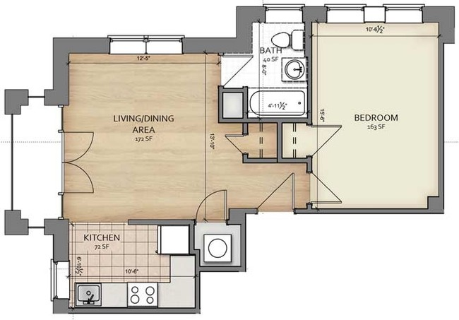 affordable 1 bedroom apartments in dc. the shaythe shay luxury