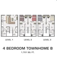 Michigan Floorplan Hannah Lofts Townhomes Apartments In East Lansing
