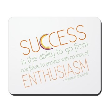 success quote mousepad
