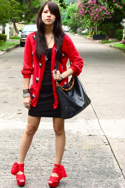 Red and Black Outfit