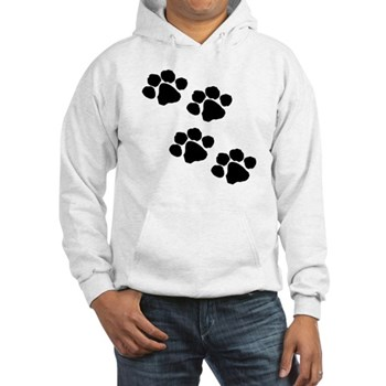 Paw Prints Hooded Sweatshirt