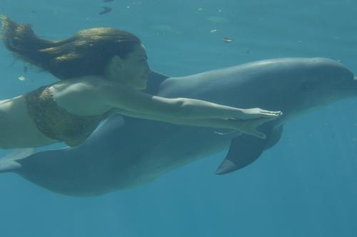 cleo with dolphin