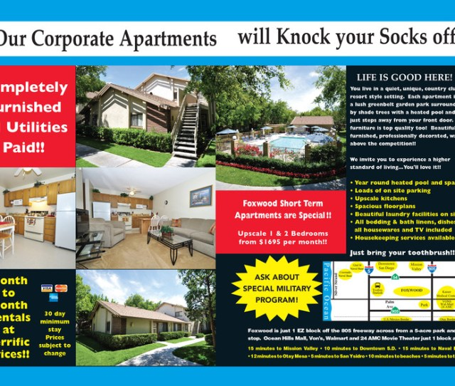 Completely Furnished All Utilities Paid Month To Month Rentals