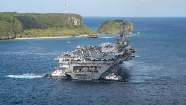 Biden also showed Trump's attitude to China, frightening Taiwan, then American aircraft carrier in the South China Sea