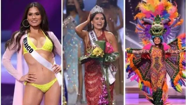 See Pics: मेक्सिको की एंड्रिया मेजा ने जीता मिस यूनिवर्स 2020 का खिताब,भारत की  Adline Castelino रहीं थर्ड रनरअप