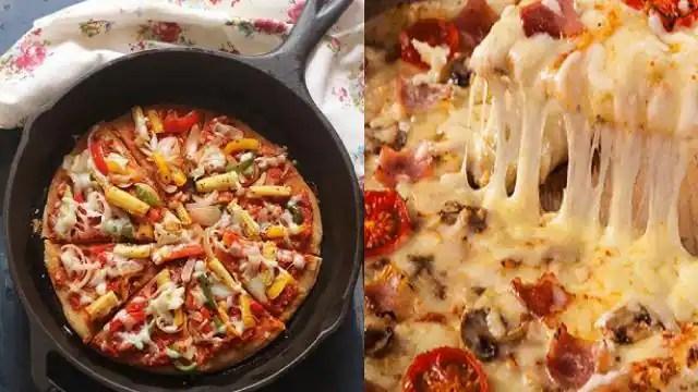 बिना ओवन घर के तवे पर बनाएं बाजार जैसा Cheesy Pizza, नोट करें ये आसान रेसिपी