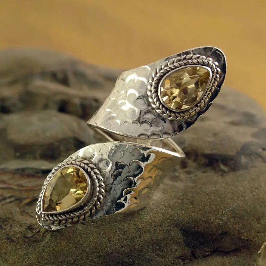 Unicef UK Market Sterling Silver Wrap Ring With Citrine