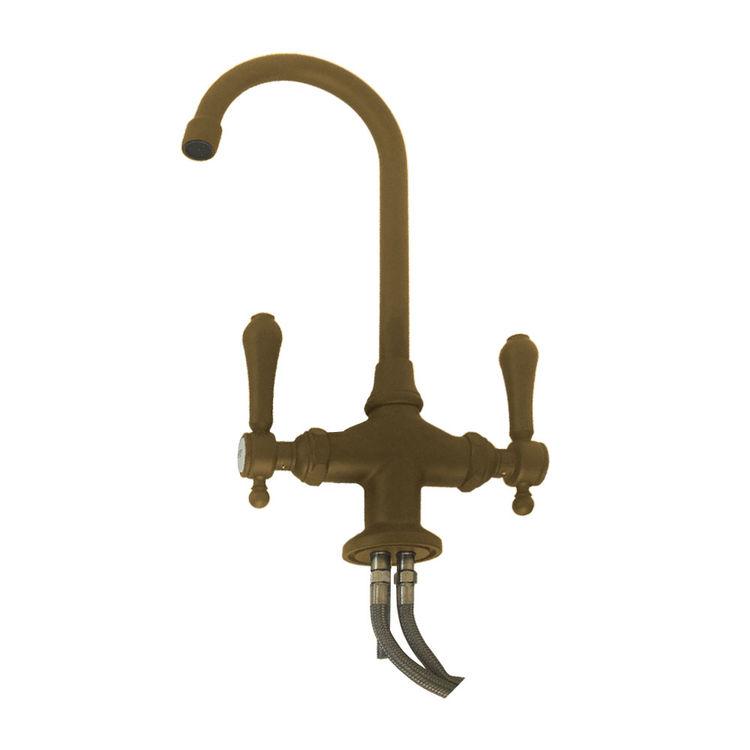 newport brass 1038 06 chesterfield antique brass two handle bar prep faucet