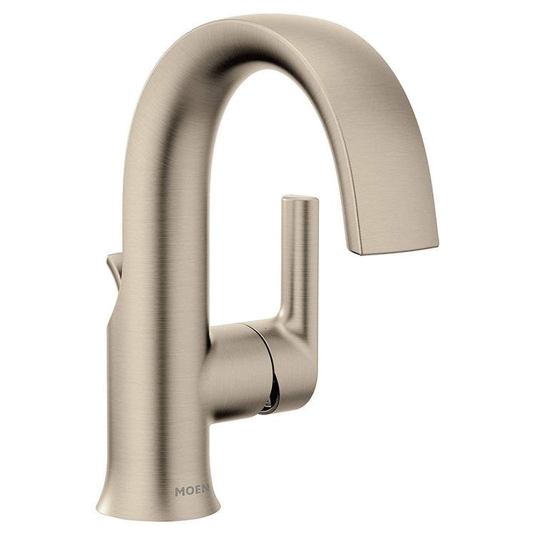 moen s6910bn doux single handle lavatory faucet brushed nickel