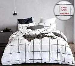 karever black white plaid bedding duvet cover set boys big grid duvet cover cotton full queen wonky checkered geometric comforter cover set for women