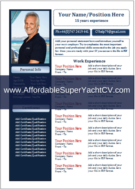 Free Yachting CV Template How To Create A Professional