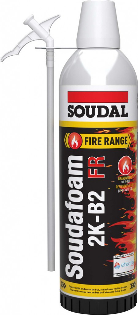 Aerosol Mousse Pu Bi Composants 400ml Soudofoam 2k B2 Homologue Cf