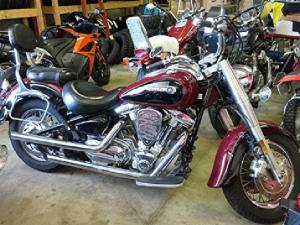 $4,995 2001 Yamaha Road Star 1600 XV16AN, black & red for