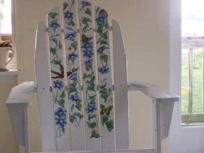 79 Adirondack Chair With Birds Butterflies Amp Morning