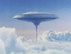 Screenshot from Star Wars of cloud city of Bespin, floating in gas giant. Perhaps it might be easier than you think to make floating cities, in the dense CO2 atmosphere of Venus