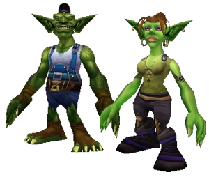 A female and male goblin.