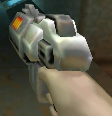 Con pocos polígonos también se podían hacer armas inservibles