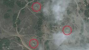 Anti-aircraft missile batteries in base near Latakia