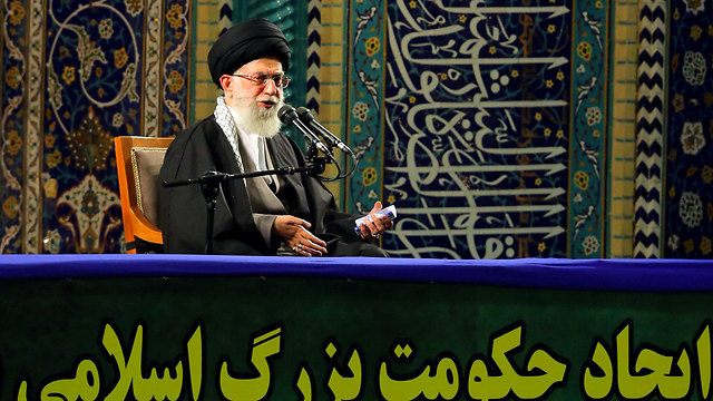 Khamenei. 'Israel the rabid dog in the region' (Photo: AFP/ Khamenei.ir)