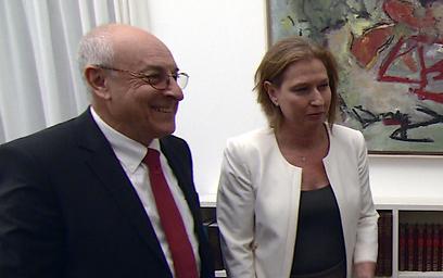 Molcho repeatedly undermined Livni (Photo: GPO)