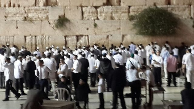 Prayers at the Western Wall for the missing boys