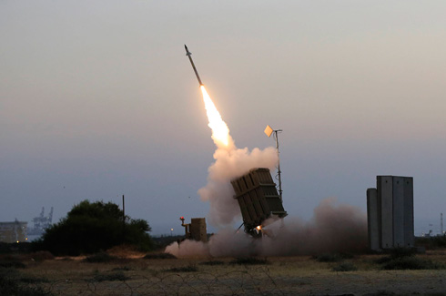 Iron Dome intercepts a missile aimed at Ashkelon